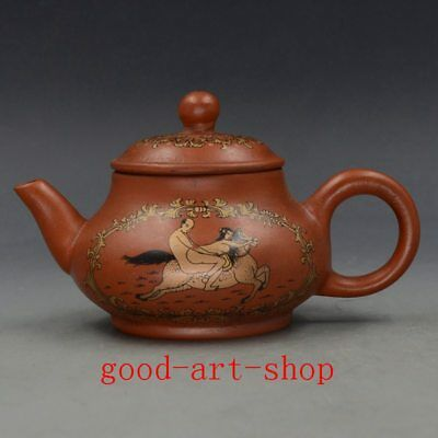 Chinese Yixing ZIsha Hand Painting Painted Teapot Made By 51