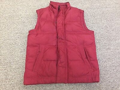 Abercrombie & Fitch Boy's  Red Puffer Zipper Button FLap Down Vest Size Large