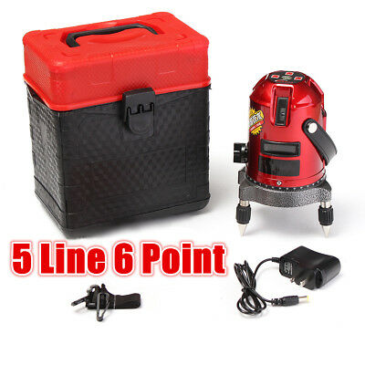 5 Line 6 Point Shockproof Automatic Self Leveling  Laser Level Measure 4V1H