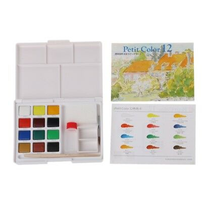 12 Colors Portable Watercolor Paint Box Solid Watercolor Painting Art Supplies