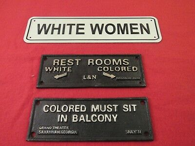 Antique Signs....Early 1900's segregation signs Black & Whites