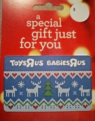 TOYS R US Gift Card - Christmas Sweater design - Collectible / No Cash Value