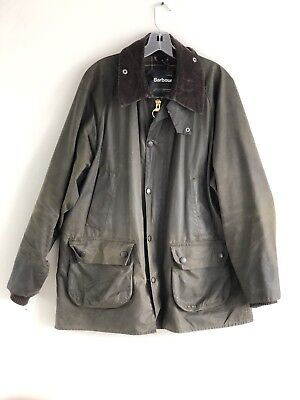 Barbour- A150 Beaufort Waxed Cotton Jacket-Sage-Made In England-Size 44 L / Xl