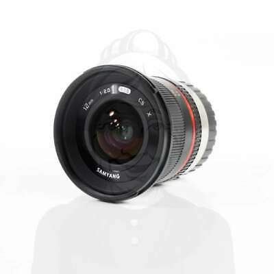 Autentico Samyang 12mm f/2.0 NCS CS Lens for Fujifilm X Mount (Black)