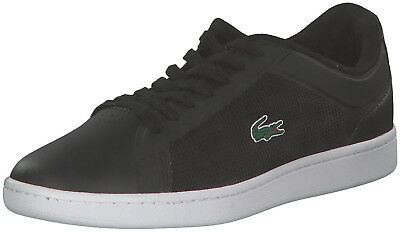 Lacoste Endliner Men Sneakers Lace Up Ankle Boots Black NEW