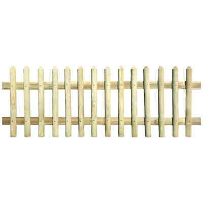 vidaXL Picket Fence Impregnated Pinewood 170x60 cm Garden Lawn Panel Barrier