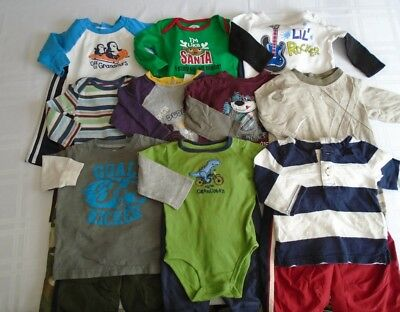 Used 20 Pc. Lot Of Baby Boy Clothes 6-12 Months Euc/vguc