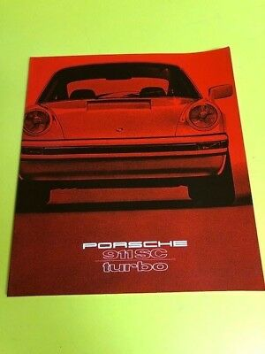 1979 Porsche 911SC & Turbo Prestige German Text Sales Brochure Original 79
