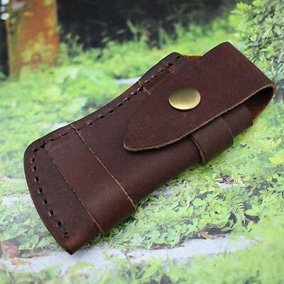 Leather Sheath For Outdoor Pocket Tools Knife Pouch with Belt Loop Case Gift