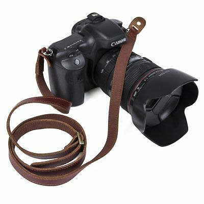 Quality Genuine Leather Camera Shoulder Neck Strap Fit For Canon Nikon Sony DSLR