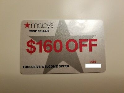 Macy's Wine Cellar Gift Card- $160 Off