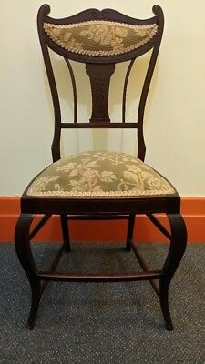 Antique Victorian Occasional Chair Rare and Unique, Original Upholstery