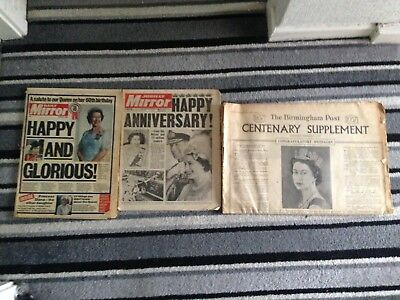 Collection of Vintage Newspapers of the Queen The Royal Family