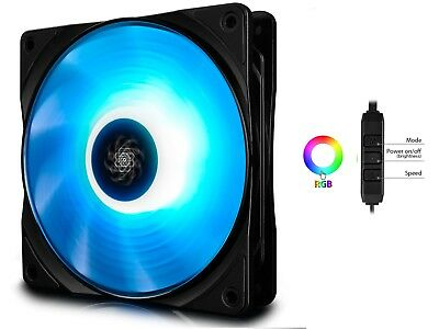 DEEPCOOL RF140 140mm RGB PWM Fan with Cable Controller, for CPU Cooler or case