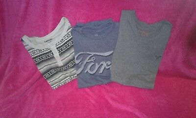 Mens Small Lot 3 s/s tops American Eagle/Carbon/Ford Casual Nice