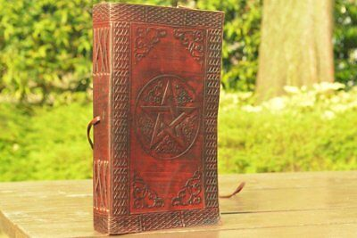 Handmade Leather Journal Handmade Diary Gift Book Pentacle Sketch Notebook 9x5