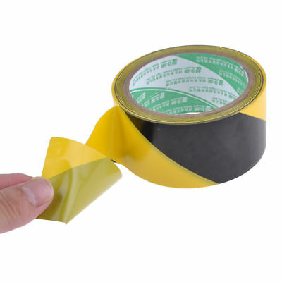 New BLACK AND YELLOW PVC ROLL SELF ADHESIVE HAZARD SAFETY CAUTION WARNING TAPE