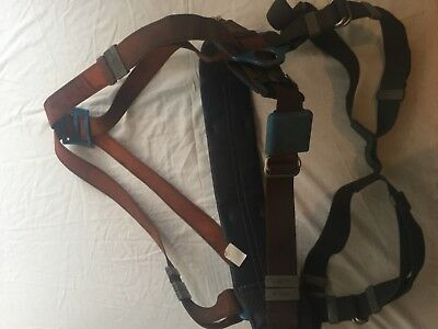 Full body safety harness - orange & blue. Used Good condition