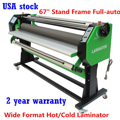 "US-67"" Stand Frame Full-auto Single Side Large Format Hot/Cold Laminator + Stand"
