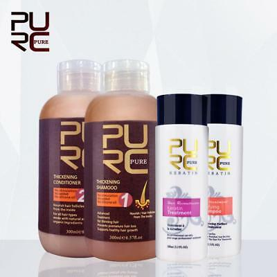 PURC thickening hair shampoo and hair conditioner set and keratin hair treatment