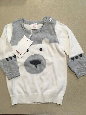 Seed Heritage Baby Boy Knitted Jumper Top Size 0 Brand New
