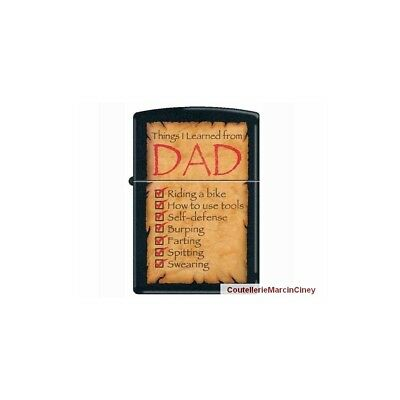 Zippo 2.002930 Things I Learned From Dad