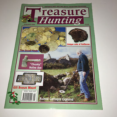 Treasure Hunting Metal Detecting Magazine January 2000 Cottages Coins Bronze etc