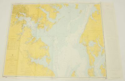 Approaches Baltimore Harbor Maryland 549-SC Vintage Map Nautical Chart