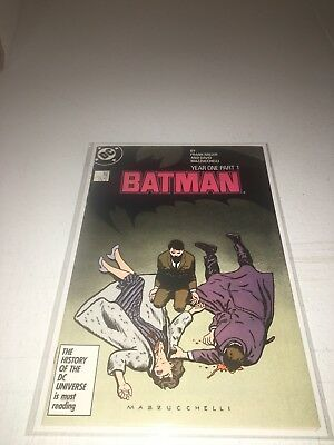 Batman #404 VF/NM, Frank Miller, Year One Part 1, Nice Copy! Free Shipping