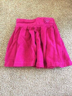 JoJo Maman Bebe Pink Cord Skirt, 18-24m, Excellent Condition