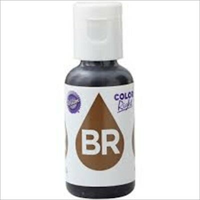 Wilton Color Right Brown Base Refill Food Colouring Cake Baking Treats 19Ml New