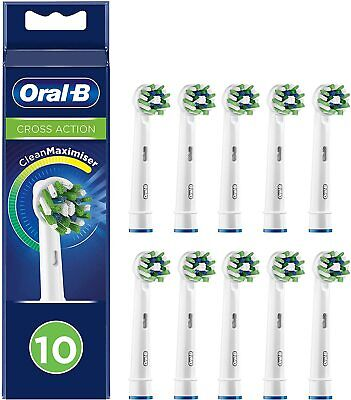 Kit 10 Testine Spazzolini Elettrici Braun Oral-B Crossaction Originali