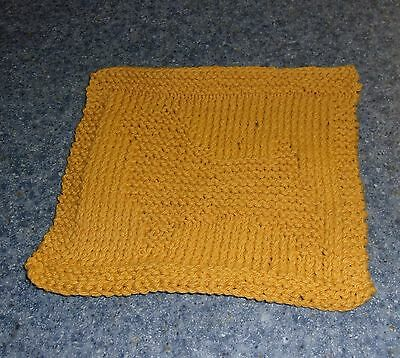 Brand New Hand Knit Norwich Terrier Dog Gold Dish Cloth For Dog Rescue Charity