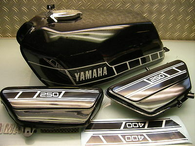 New/New Original Yamaha Tank Rd250 Rd400 + Seitendeckel Öltank / Oil Side Cover