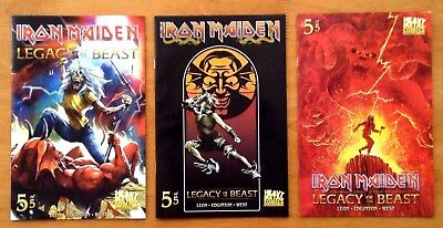 Iron Maiden Legacy of the Beast # 5 Covers A,B,C 1st Prints Heavy Metal 2018 NM