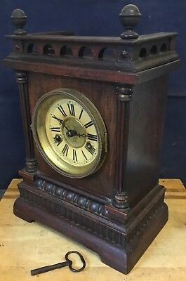Victorian Antique Bracket Mantle Clock with 12 Hour Striking Chime