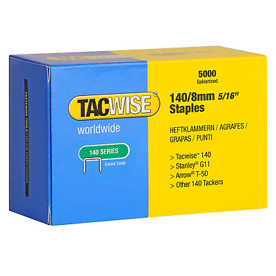 Tacwise 0341 Type 140 Series 8mm Staples (5,000) Fits For Stanley G11 Arrow T-50