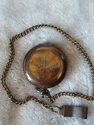 STANLEY LONDON Vintage Nautical Brass  Compass COLLECTIBLE Gift