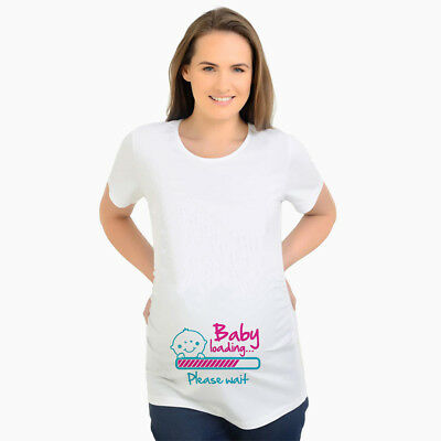 2861fe6099863 New pregnancy t-shirts baby loading maternity top tee white t shirt for  pregnant