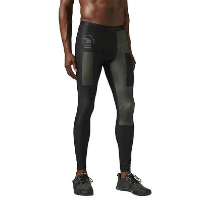 Reebok Herren Cross Fit Comp Tight Fitness Hose Trainings Leggings B87911 neu