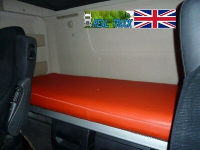 Fit Mercedes Actros Mp4 Truck  Bed Cover -Red Eco Leather