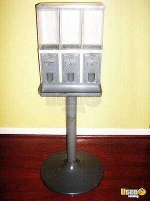 Triple Head Gumball Bulk Candy Machine VENDSTAR Great Condition Clean