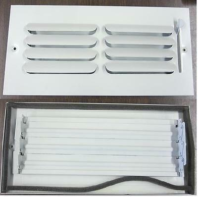 Register Vent Air Grill Wall Ceiling 10x4 Alum. Antique Wht. 10pc case NR $41..