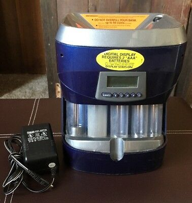 Magnif Digital Automatic Coin Sorter Counter Wrapper Machine Motorized Electric