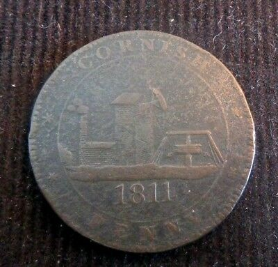 Cir 1811 Cornwall Cornish Penny Token For the Accommodation of the Country