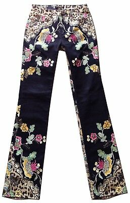 Women's Roberto Cavalli Jeans Pants Donna Slim Fit Elastan M Made In Italy Rare