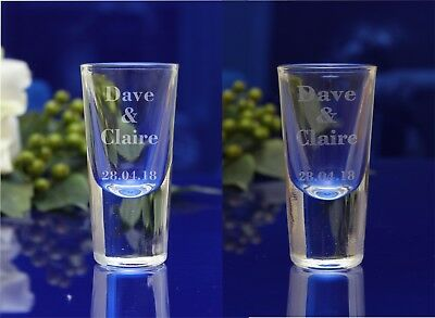 Personalised 25ml/0.8oz ENGRAVED Wedding guest favor Shot glasses, gift Birthday
