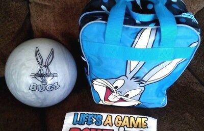 Brunswick Bugs Bunny Bowling Ball with Matching Bag WB 1999 NEW PRICE