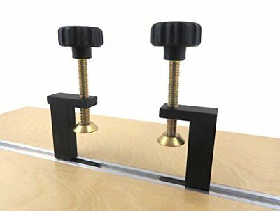 Taytools 73486 Pair 2 Each T Track Clamp Hold Down for T Track that Accepts 1...