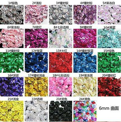HOT DIY 1400 pcs Oval Round Cup Sequins Paillettes Loose AB 6mm Wedding Craft